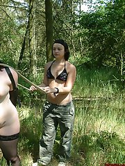 Lesbian Ponygirl Training And Outdoor